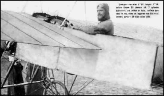 Aviator Deneau in his Bleriot