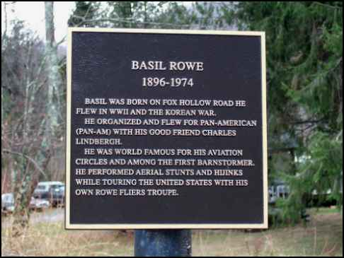 Capt. Basil Rowe Plaque